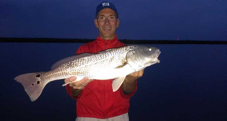 Early Morning Redfish Caught near New Smyrna Beach